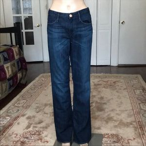 Earnest Sewn dark wash bootcut jeans. Size 30L.